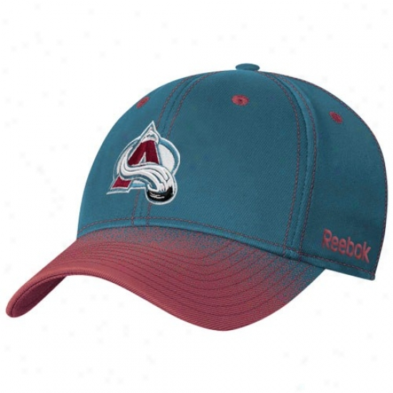 Colorado Avalanche Cardinal's office : Reebok Colorado Avalanche Teal Gradiated Flex Fit Hat
