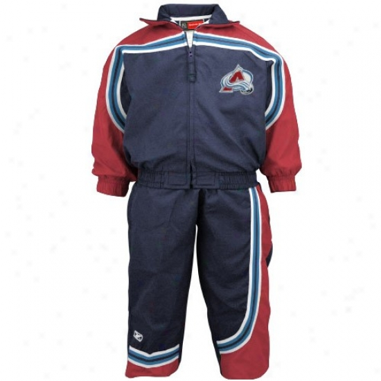 Coloraro Avalanche Jackets : Reebok Colorado Avalanche Navy Blue Toddler 2-piece Windsuit