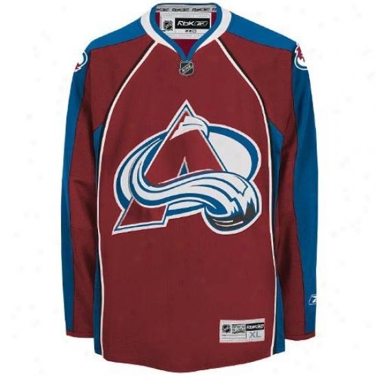 Colorado Avalanche Jerseys : Reebok Colorado Avalanche Garnet Premier Hockey Jerseys