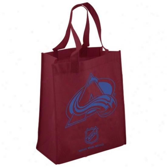 Colorado Avalanche Maroon Reusable Tote Bag