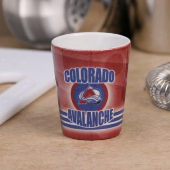 Colorado Avalanche Maroon Slapshot Ceramic Shot Glass
