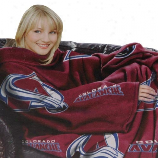 Colorado Avalanche Maroon T3am Logo Print Unisex Comfy Throw