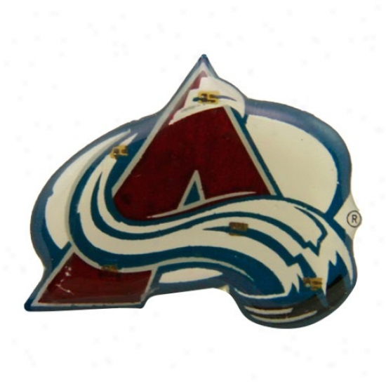 Colorado Avalanche Merchandise: Collradl Avalanche Team Logo Flashing Pin