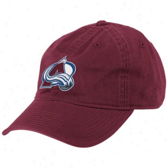 Colorado Avalanche Mechandise: Reebok Colorado Avalanche Burgundy Basic Logo Adjustable Slouch Hat