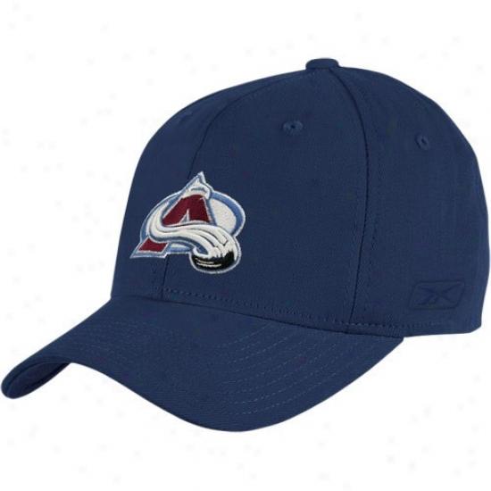 Colorado Agalanche Merchandise: Reebok Colorado Avalanche Navy Blue Face Off Flex Fit Hat