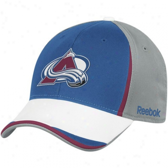 Colorado Avalanche Merchandise: Reebok Colorado Avalanche Gray-royal Blue Nhl 2010 Draft Day Flex Fit Hat