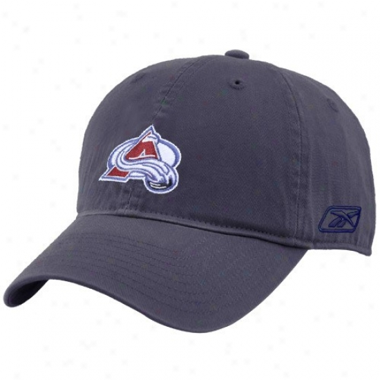 Colorado Avalanche Merchandis3: Reebok Colorado Avalanche Navy Blue Unstructured Slouch Hat