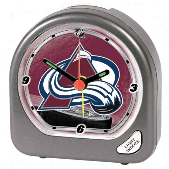 Colorado Avalanche Plastic Alarm Clock