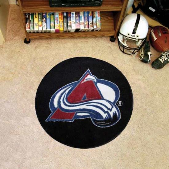 Colorado Avalanche Round Hockey Robin Good-fellow Mat