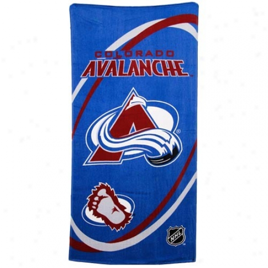 Colorado Avalanche Royal Azure Swirl Beach Towel