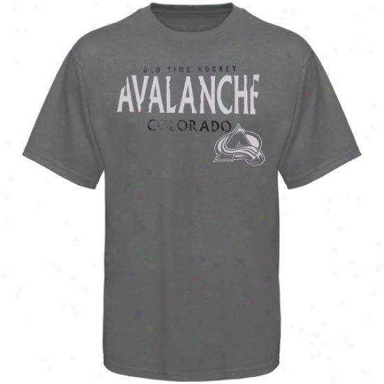 Colorado Avalanche Shirts : Old Time Hockey Coolorado Avalanche Charcoa1 St. Croix Shirts