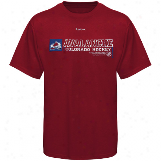 Colorado Avalanche Shirts : Reebok Colorado Avalanche Red Call Sign Shirts
