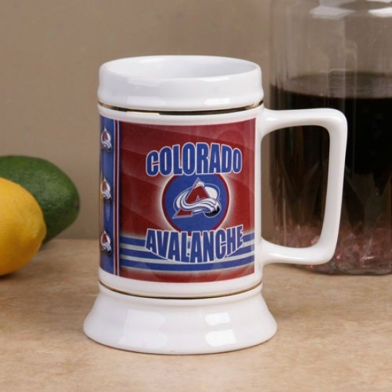 Colorado Avalanche Slapshot 28oz. Ceramic Stein