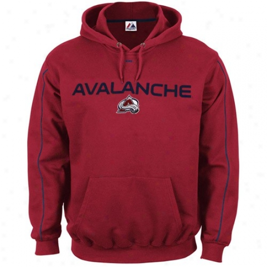 Colorado Avalanche Sweatshirt : Majestic Colorado Avalanche Red Classic Sweatshkrt