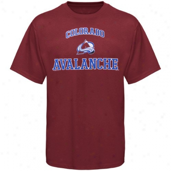 Colorado Avalanche T Shirt : Majestic Colorado Avalanche Maroon Heart & Soul Ii T Shirt