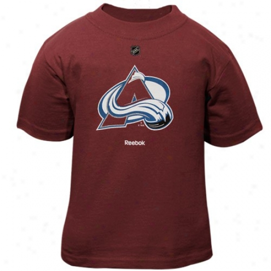 Colorado Avalanchr T-shirt : Reebok Colorado Avalanche Toddler Maroon Primady Logo T-shirt
