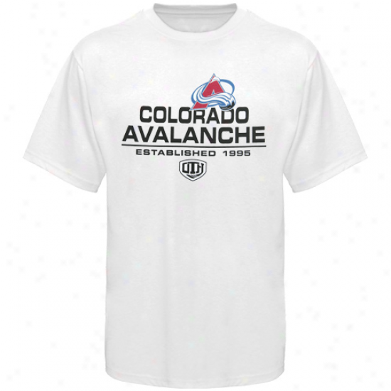 Colorado Avalanche Tees : Old Time Hockey Colorado Avalanche White Zeno Tees