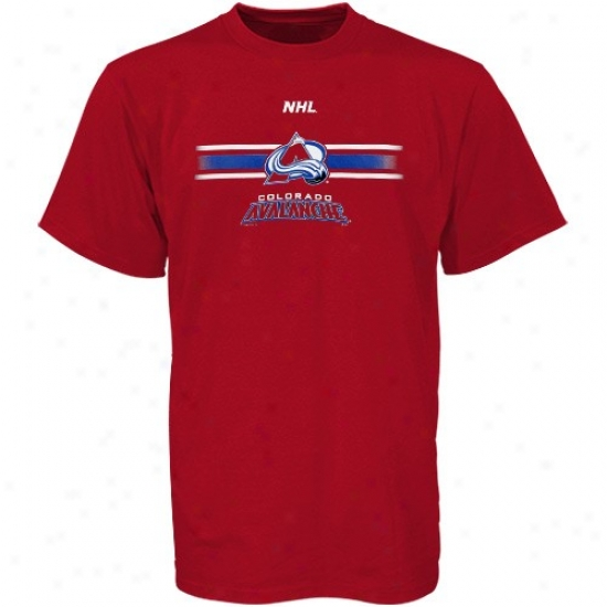 Colorado Avalanche Tshirts : Majestic Colorado Avalanche Burgundy Earned Victory Tshirts