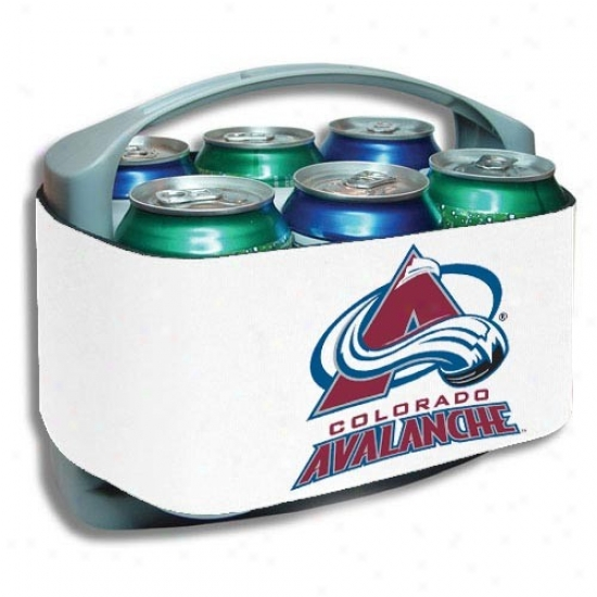 Colorado Avalanche White Cool Six Cooler