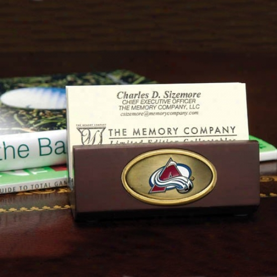 Colorado Avalanche Wooden Business Card Holder