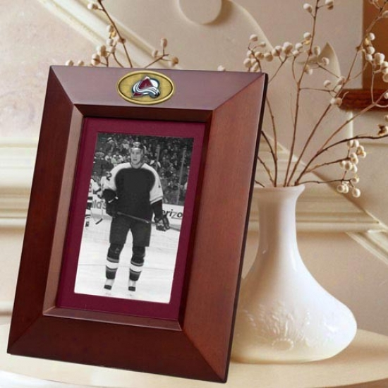 Colorado Avalanche Wooden Vertical Picture Frame