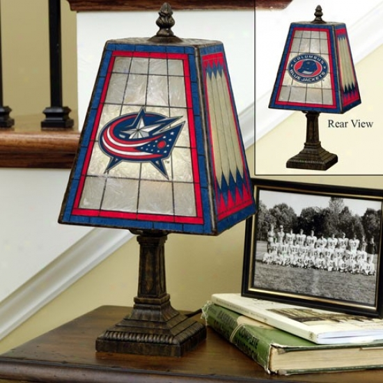 Columbus Blue Jackets Art-glass Table Lamp