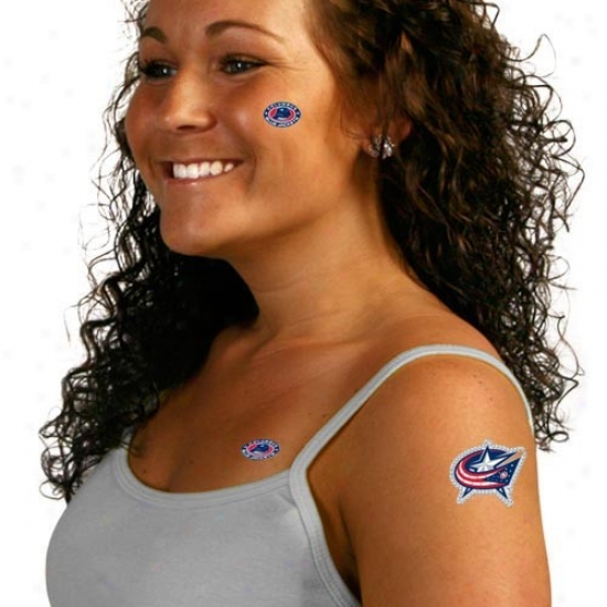 Columbus Blue Jackets Body Art