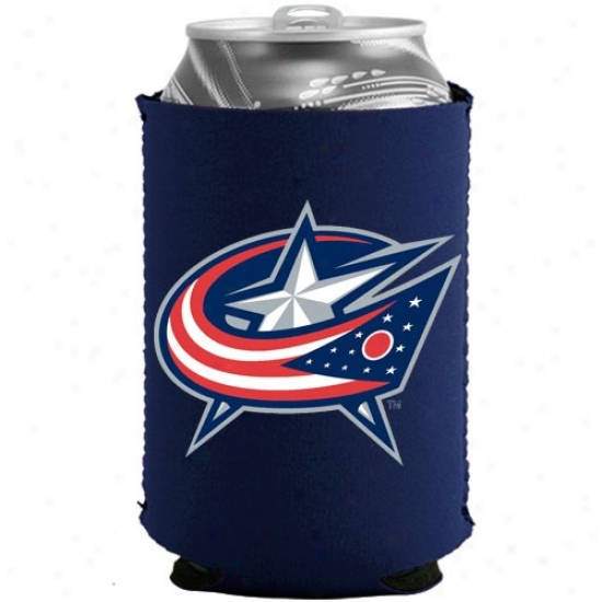 Columbus Blue Jackets Navy Blue Collapsible Can Coolie