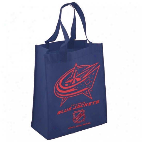 Columbus Blue Jackets Navy Blue Reusable Tote Bag
