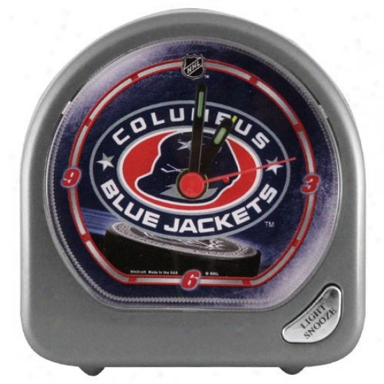 Columbus Blue Jackets Plastic Alarm Clock