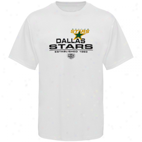 Dallas Star Dress: Old Time Hockey Dallas Fate White Zeno T-shirt