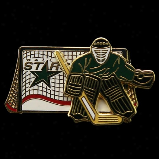 Dallas Star Hats : Dallas Star Movable Goalie Pin