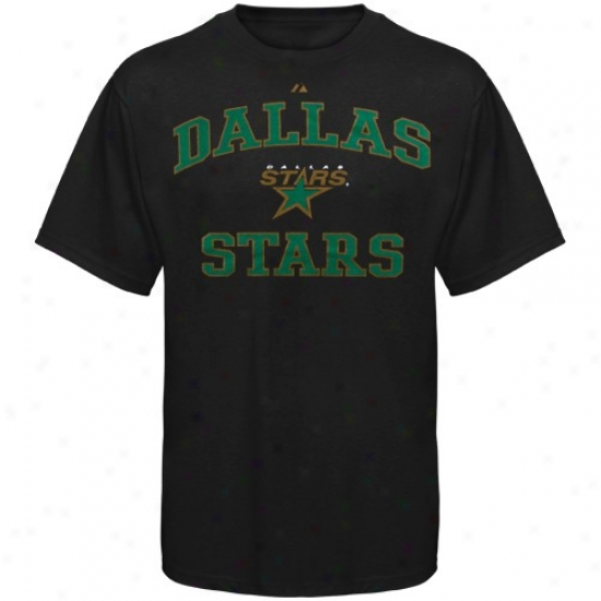 Dallas Star Shirt : Majestic Dallas Star Black Heart & Soul Ii Shirt