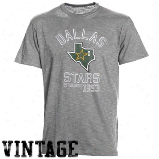 Dallas Star Tee : Flag '47 Dallas Star Ash Baseline Vintage Tee