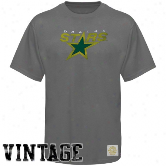 Dallas Star Tee : Reebok Dallas Star Charcoal Retro Logo Vintage Premium Tee