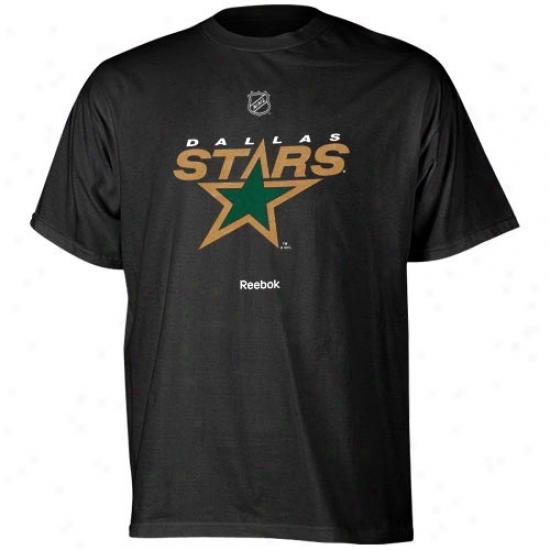 Dallas Star Tees : R3ebok Dallas Star Youth Black Primary Logo Tees