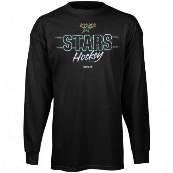 Dallas Heavenly body Tshirts : Reebok Dallas Star Black Allegiance Lengthy Sleeve Tshirts