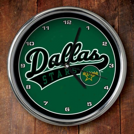Dallax Stars 12'' Chrome Clock