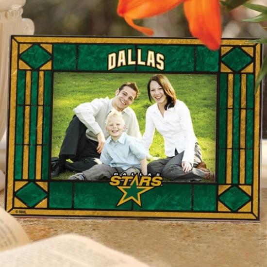 Dallas Stars Art-glass Horizontal Painting Frame
