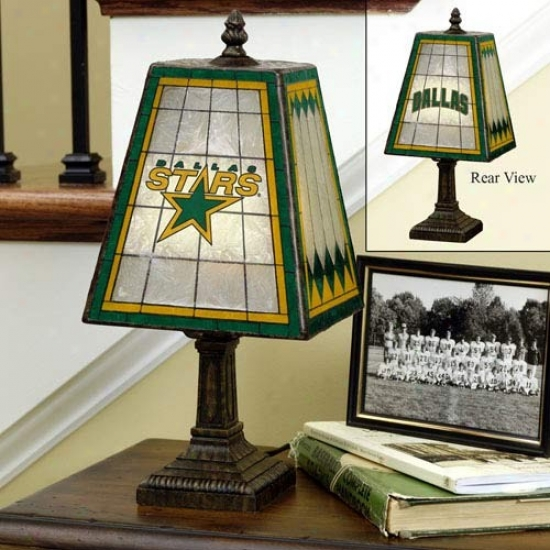 Dallas Stars Art-glass Lamp