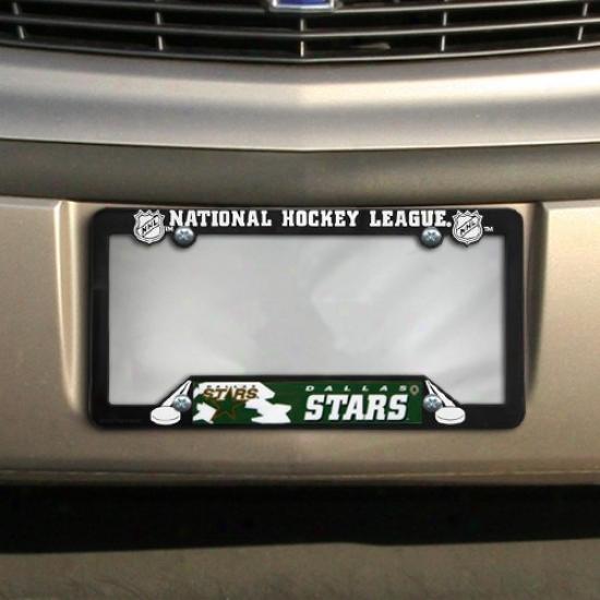 Dallas Stars Black Plastic License Plate Frame