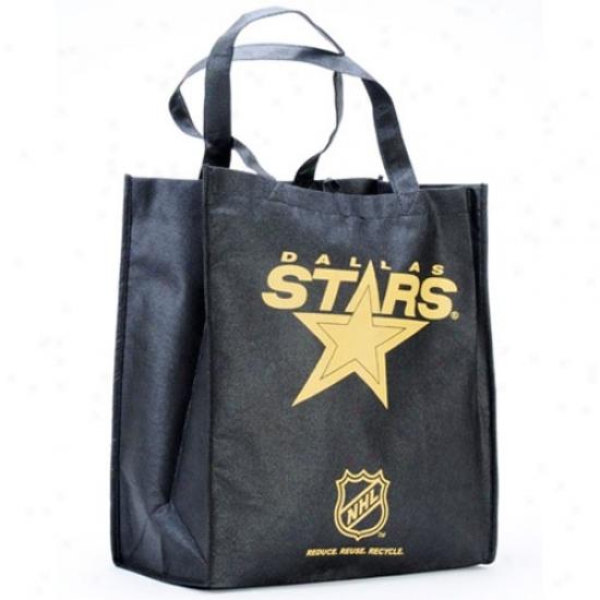 Dallas Stars Black Reusable Tote Bag