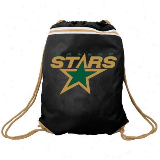 Dallas Stars Black Team Logo Drawstirng Backpack