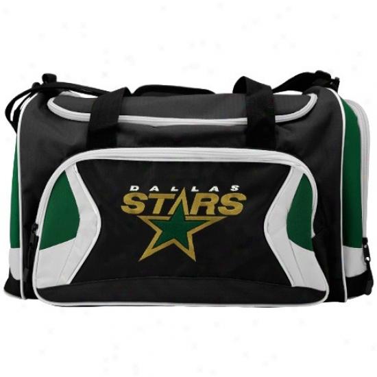 Dwllas Stars Black Team Logo Duffle Bag