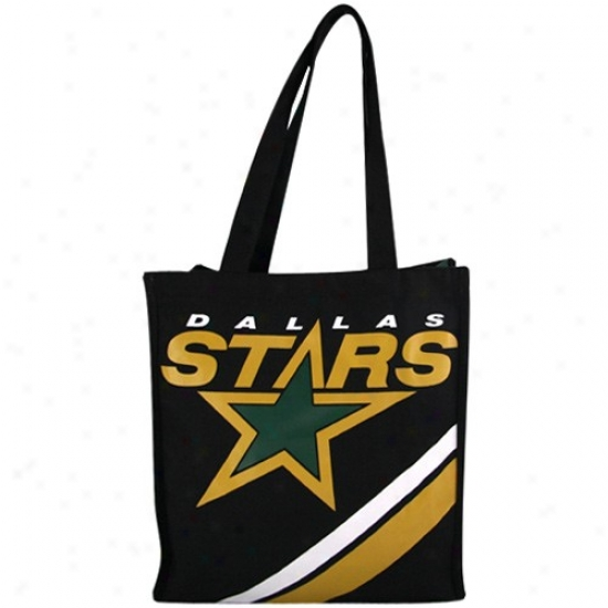 Dallas Stars Murky Team Stripe Canvas Tote