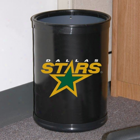 Dallas Stars Black Team Wastebasket