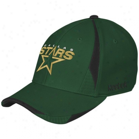 Dallas Stars Caps : Reebok Dallas Stars Green Player 2nd Season Flex Fit Caps