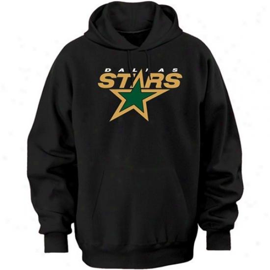 Dsllas Stars Fleece : Majestic Dallas Stars Black Felt Tek Tract Fleece