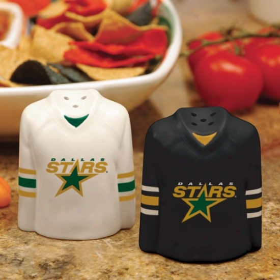 Dallas Stars Gameday Ceramic Swlt & Pepper Shakers