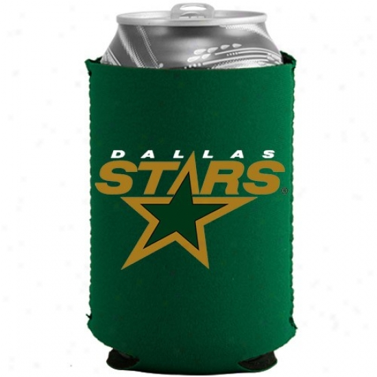 Dallas Stars Green Collapsible Can Coolie